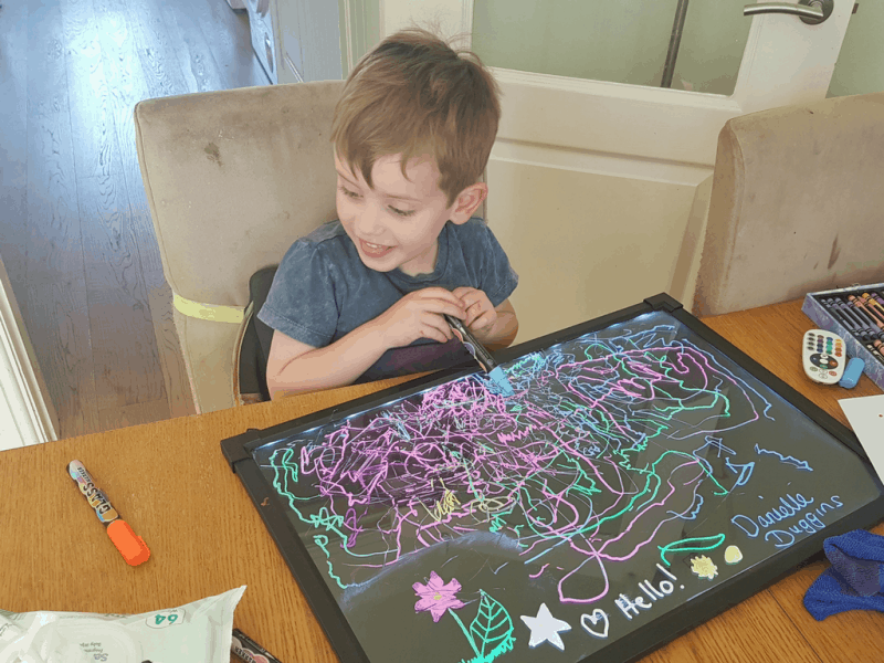 LED Light up drawing board - The best sensory toys for sensory seekers