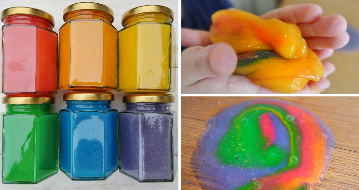 Rainbow Glitter Slime Sensory Play – UK Slime Recipe