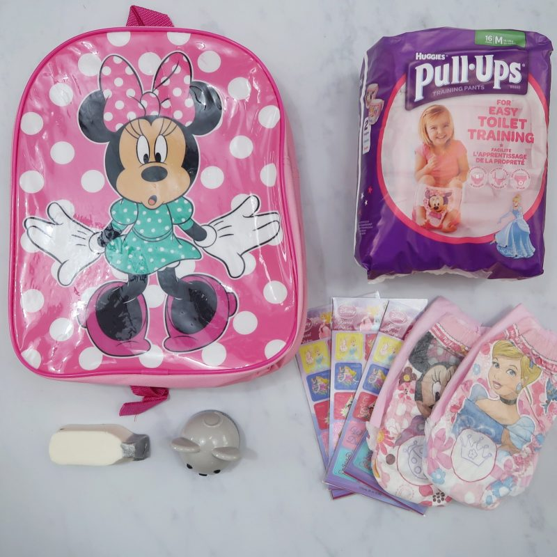 Our day time items for potty training success