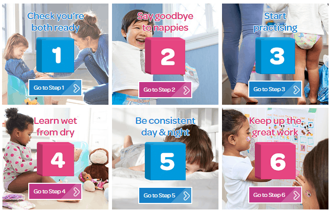 The 6 Steps to Potty Training Success with Huggies
