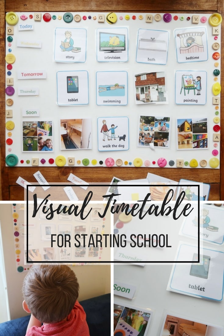 Visual Timetable for Starting School - a step-by-step guide to creating a visual timetable. Useful for small children and those with autism and ADHD.