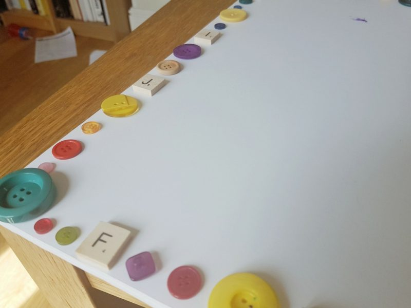 Button boarder on our visual timetable