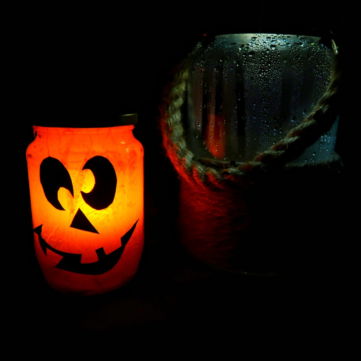 Jar Lantern Craft - Jack O Lantern Jar