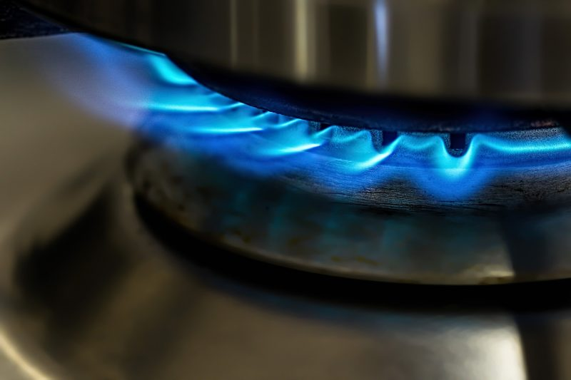 Gas Safety - flame on gas hob
