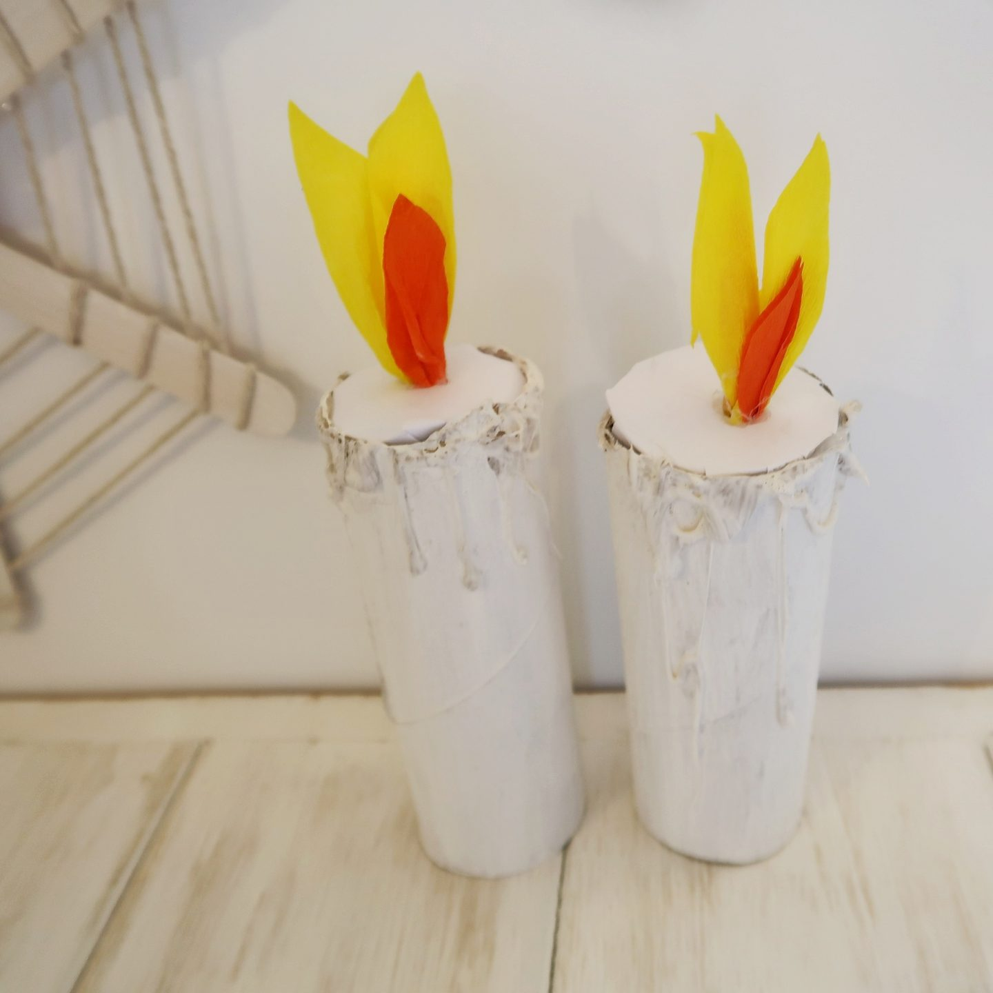 Three Easy Halloween Decorations to make with Kids - candles