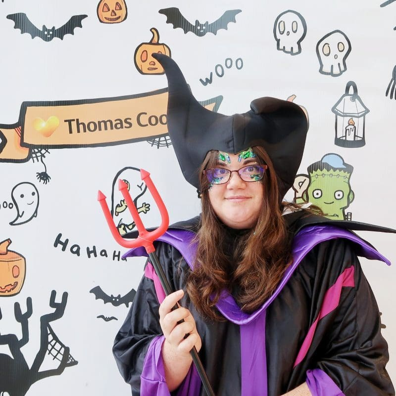 Me dressed as Maleficent for Thomas cook Halloween