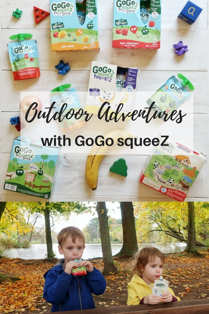 Outdoor Adventures with GoGo squeeZ - a great new healthy snack range for kids in yogurt and fruit varieties.