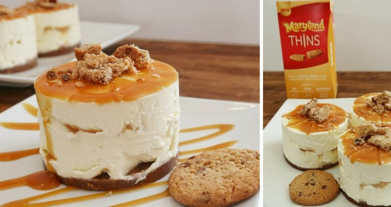 Salted Caramel Cookie Cheesecake