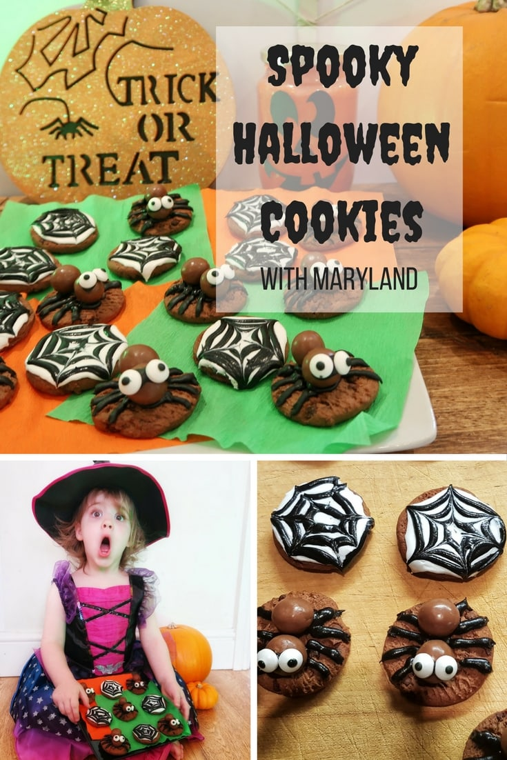Spooky Halloween Cookies - how to make really easy spooky spider and web cookies. Great for Halloween parties and trick or treating.
