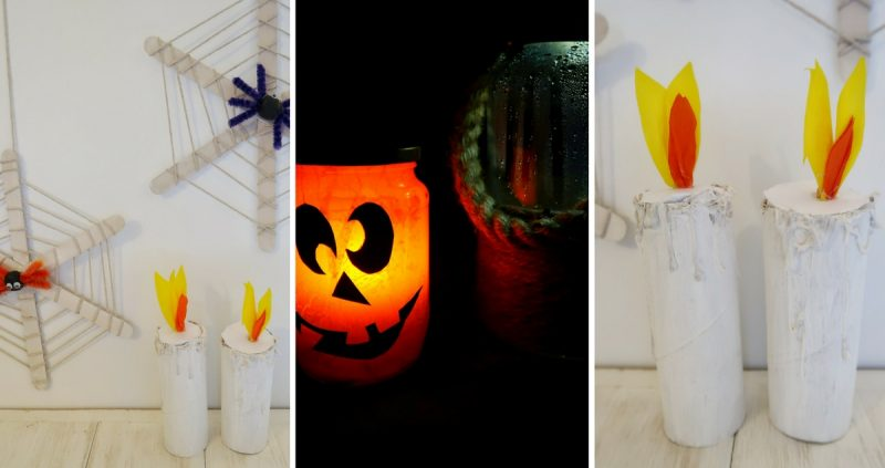 Three easy halloween decorations to make with kids for Easy halloween decorations to make at home for kids