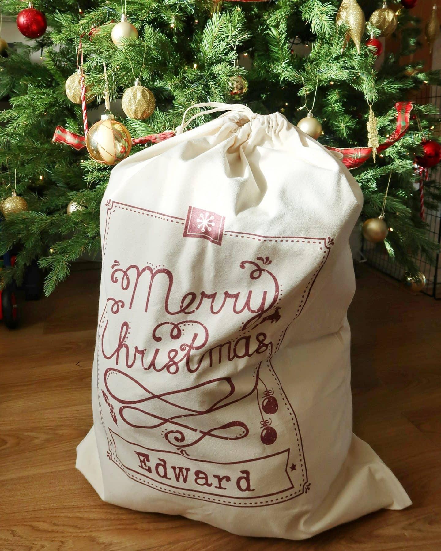 Personalised Christmas keepsakes - Christmas sack