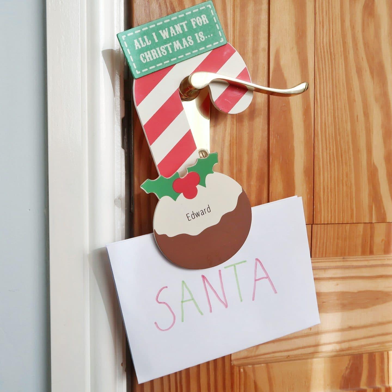 Personalised Christmas Keepsakes - Wishlist door hanger