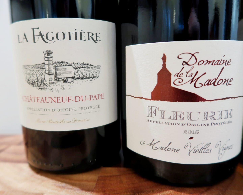 Close-up of wine labels - rent a vine