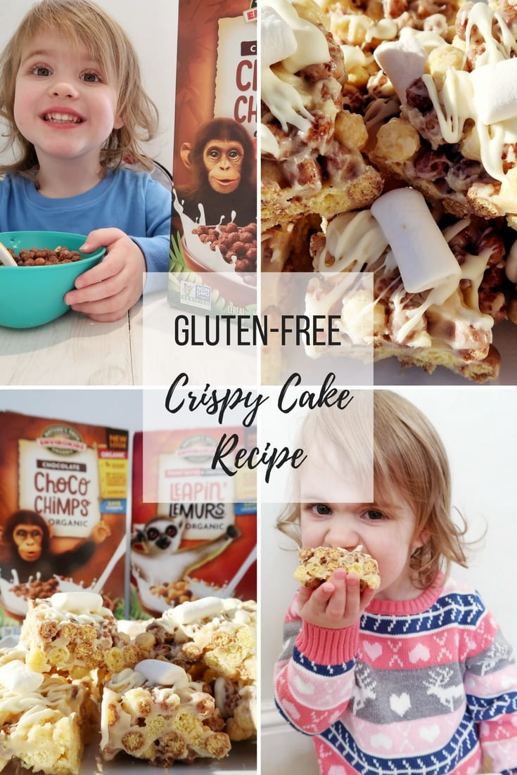 Gluten-Free Crispy cake recipe. This recipe is also vegan and dairy-free and uses Envirokidz gluten-free kids' cereal.