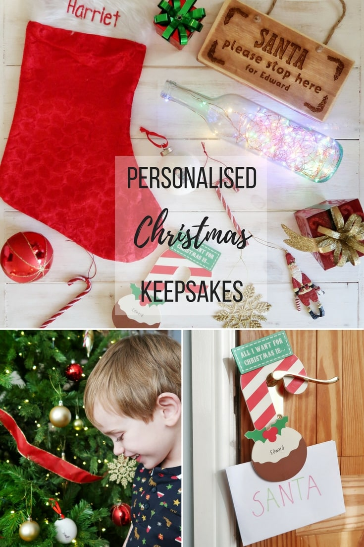 Personalised Christmas Keepsakes - reviews of come personalised Christmas Baubles, Santa Stop Here signs and other Christmas items.