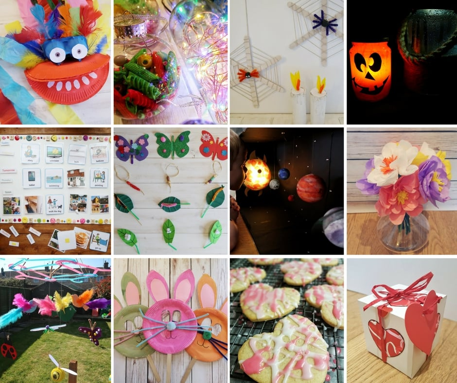 All my Bostik Blogger Crafts in a collage final