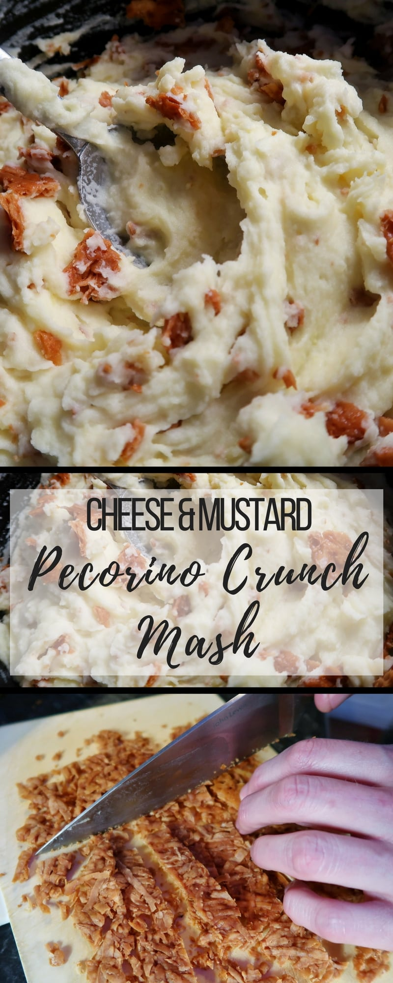 Cheese and Mustard Mash with Pecorino Crunch - A recipe for #mash with #pecorino crunch. A #recipe that takes mash to the next level.