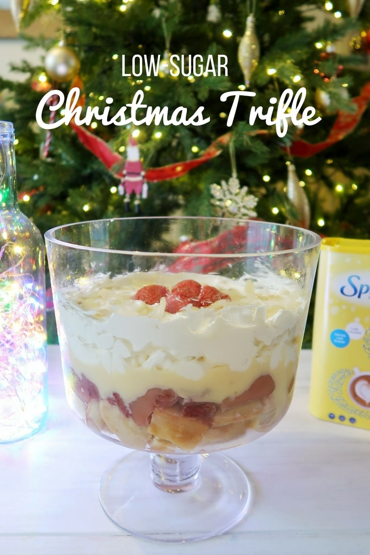 Low-Sugar Trifle recipe - uses Splenda low-calories sweetener and is ideal for Christmas or those cutting down on their sugar intake.