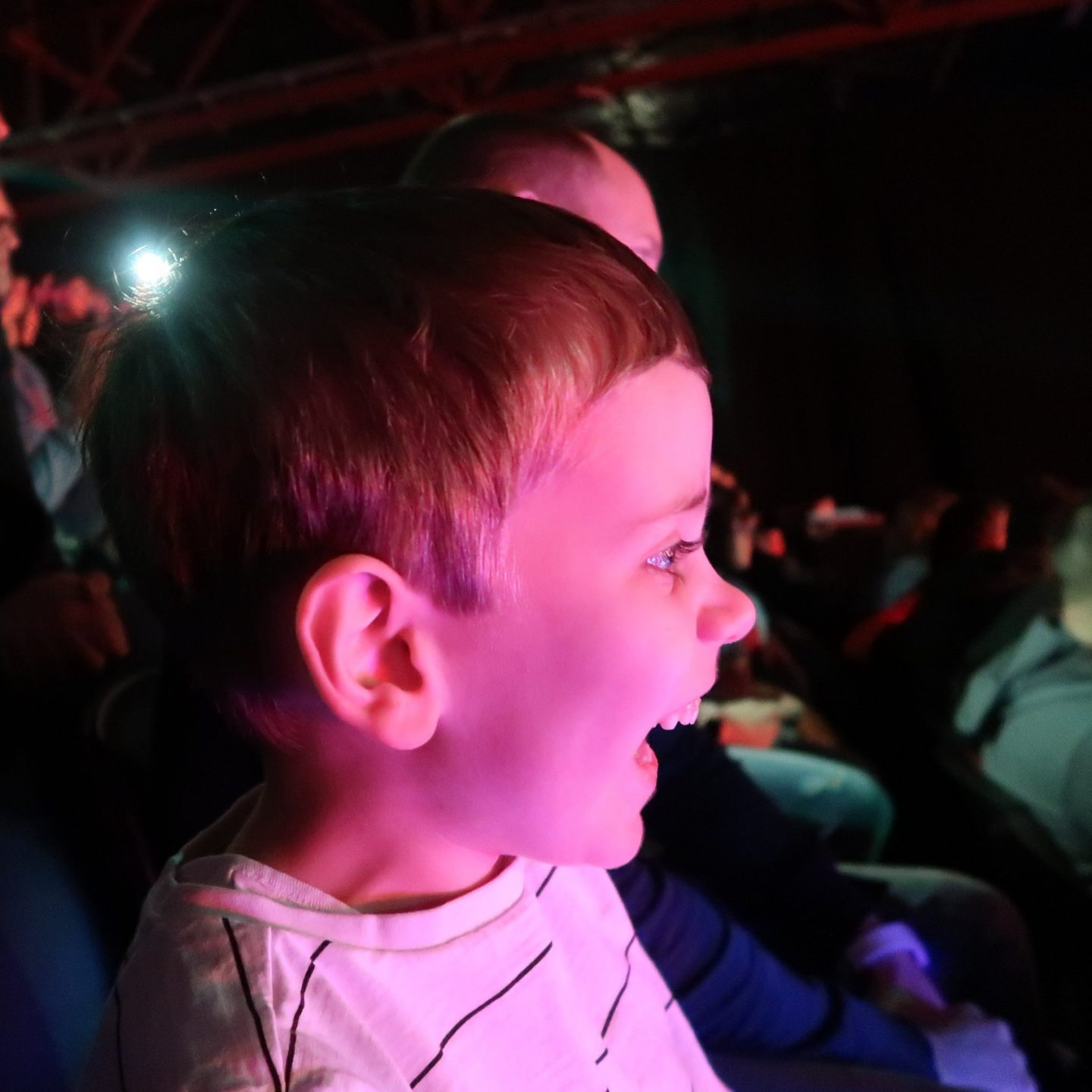 Biggest watching Disney on Ice with a look of wonder on his face.