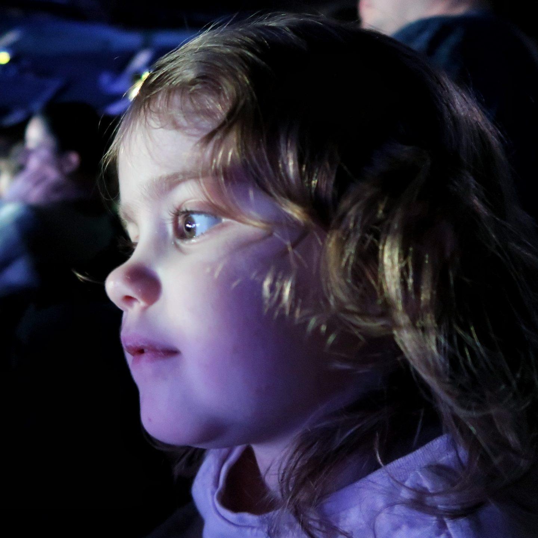Littlest watching Disney on Ice