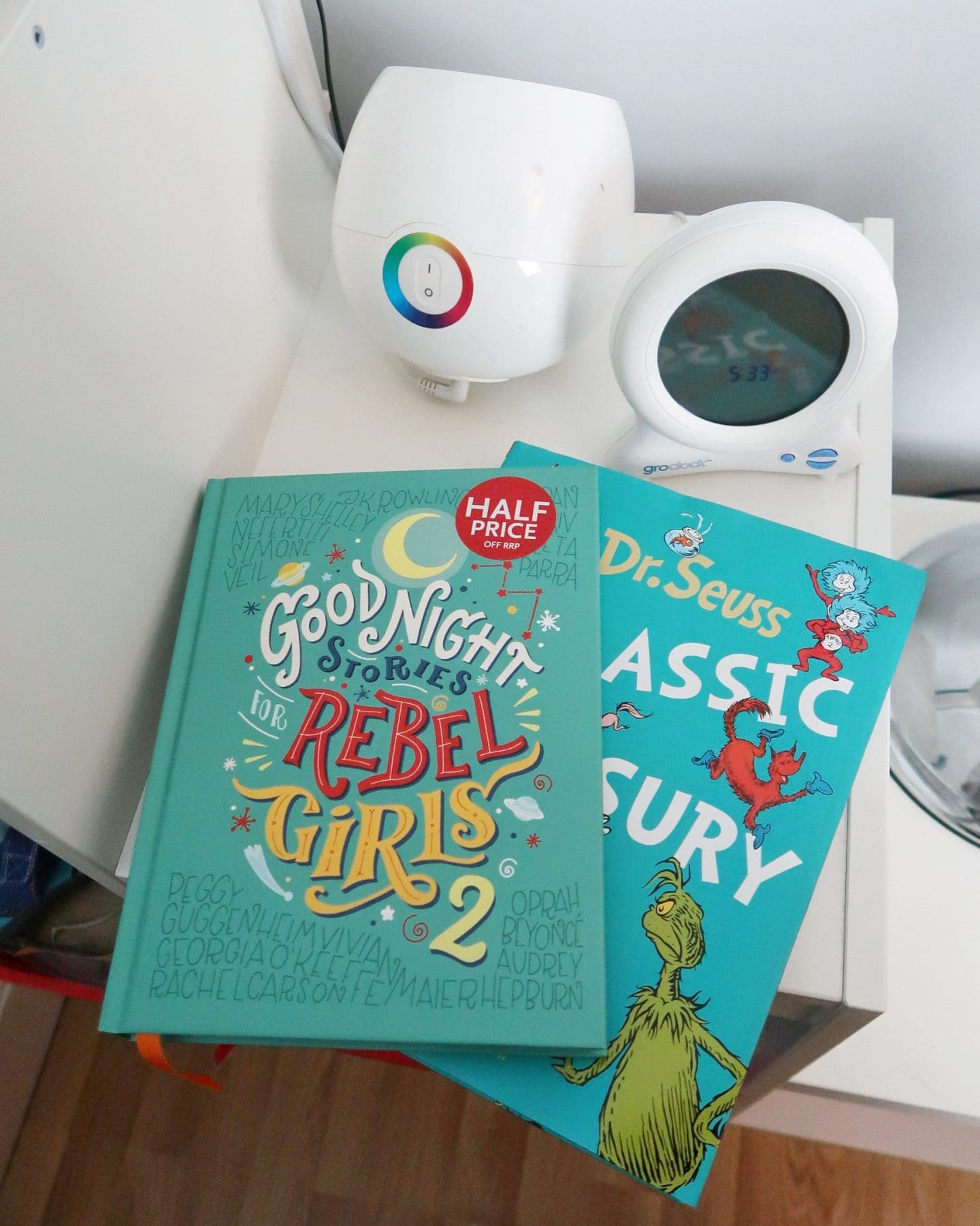 Biggest's favourite stories - Dr Suess and Goodnight Stories for Rebel girls. Bath, book, bed with booktrust