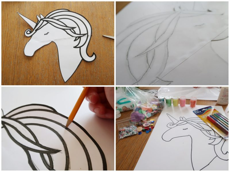 Method to create really easy unicorn craft