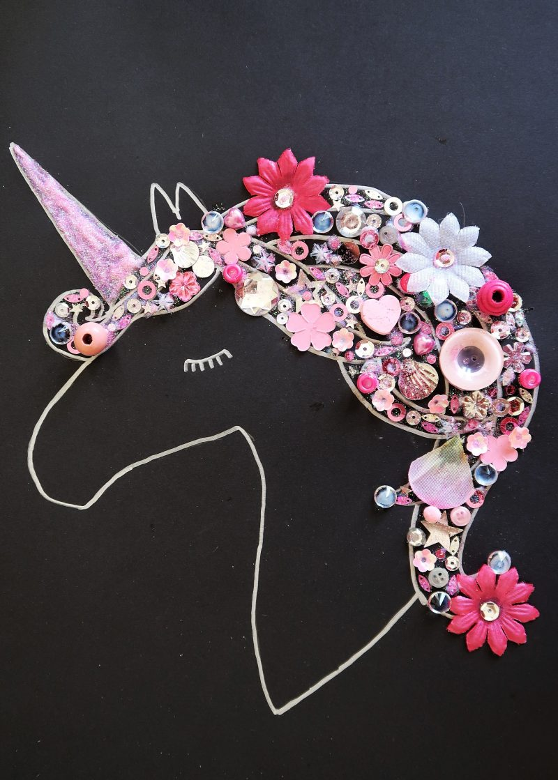 Finished really easy unicorn craft