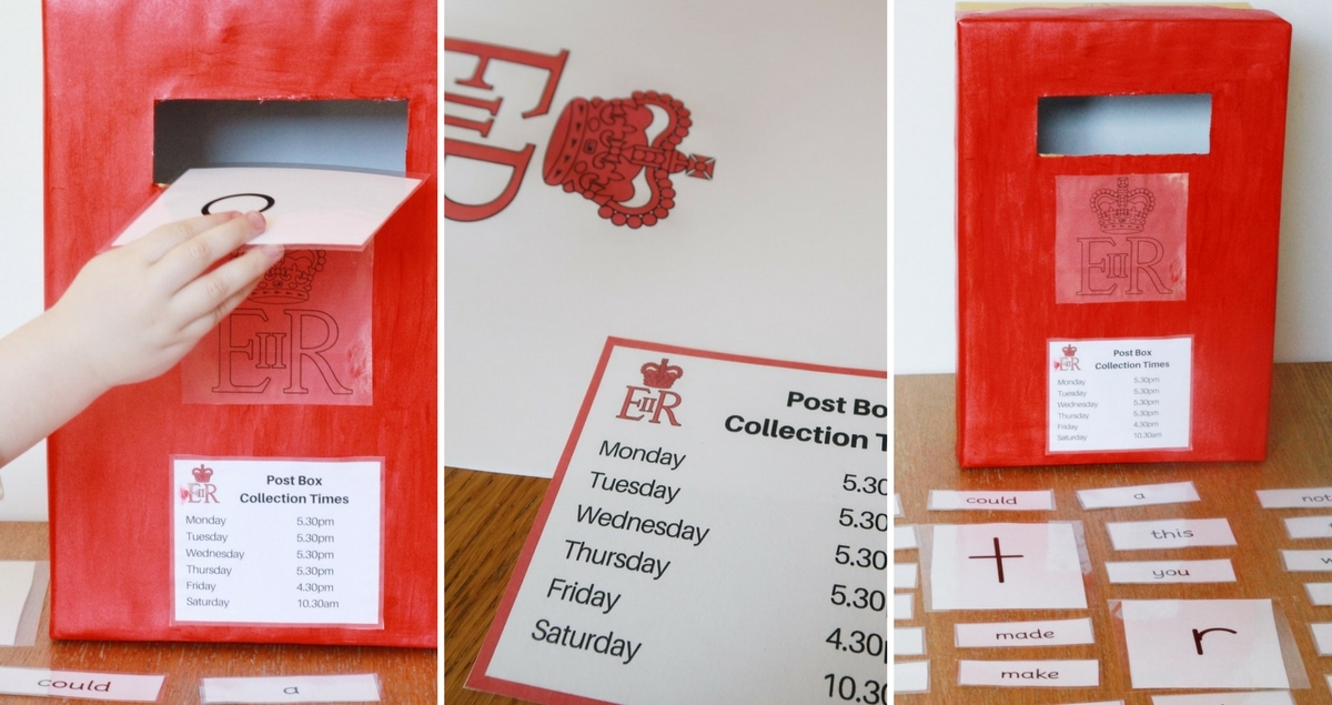 Post Box Reading Skills Game – with free printables