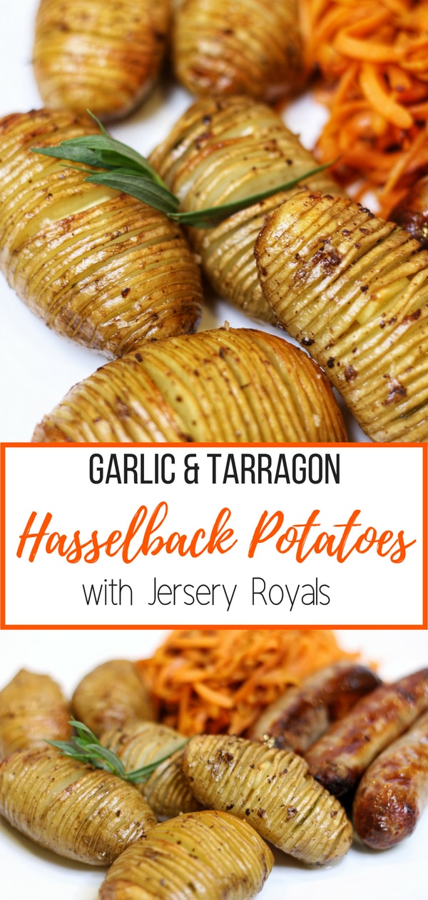 Garlic and Tarragon Hasselback Potatoes with Jersey Royals