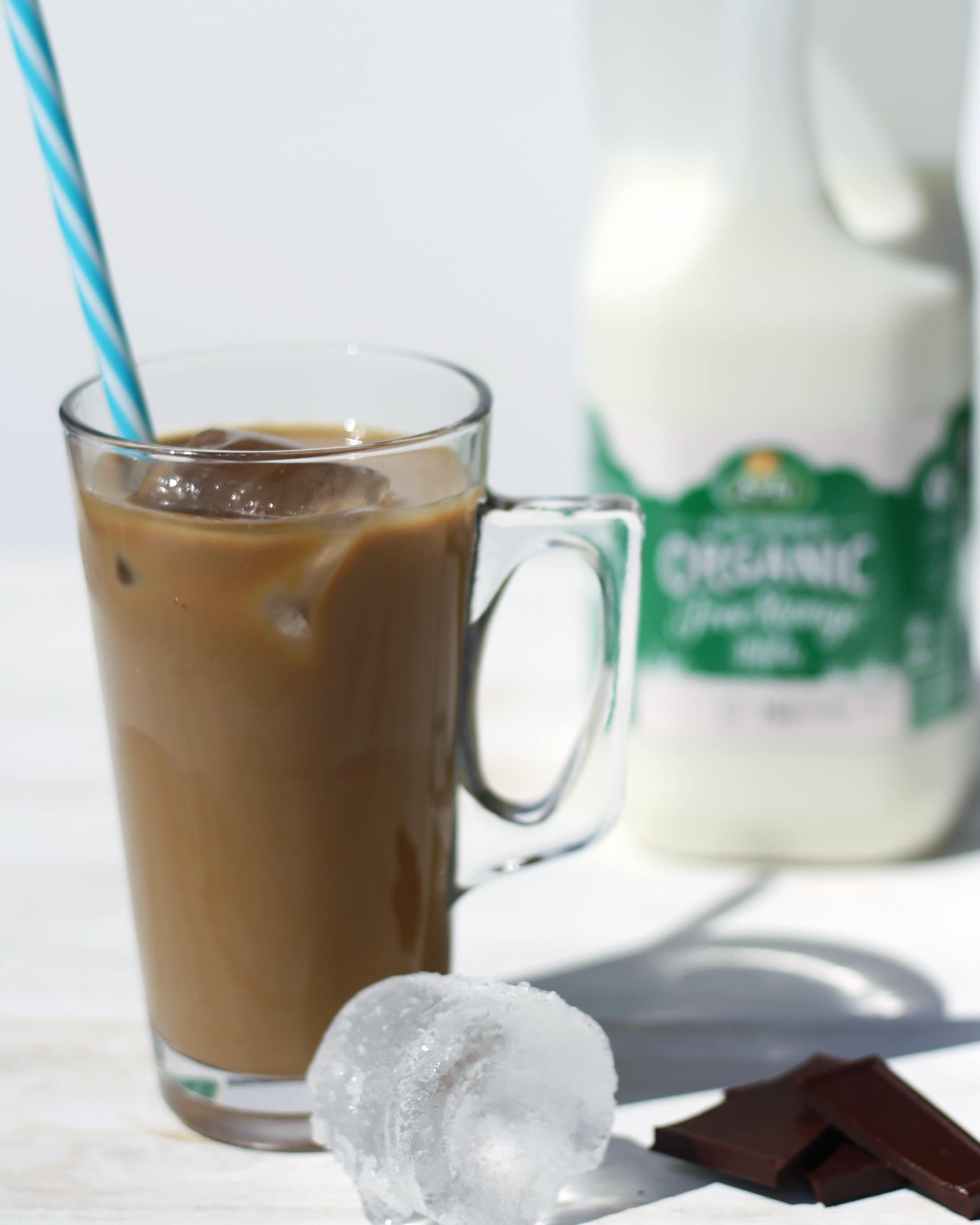 Iced coffee with Arla organic milk