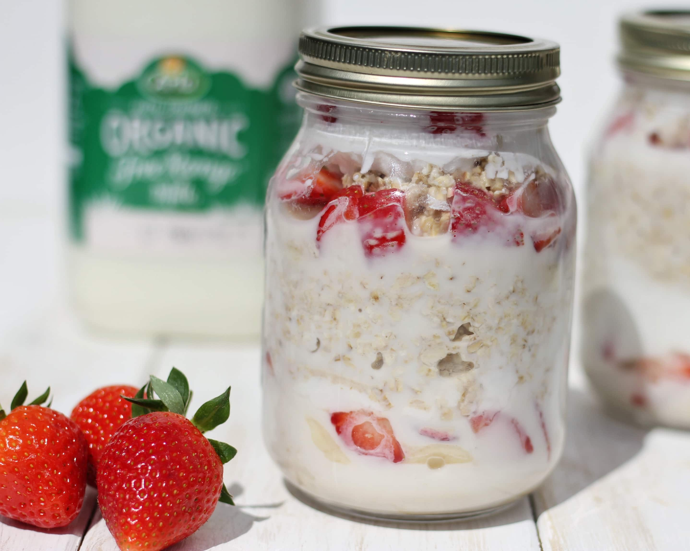 Overnight oats with Arla organic milk