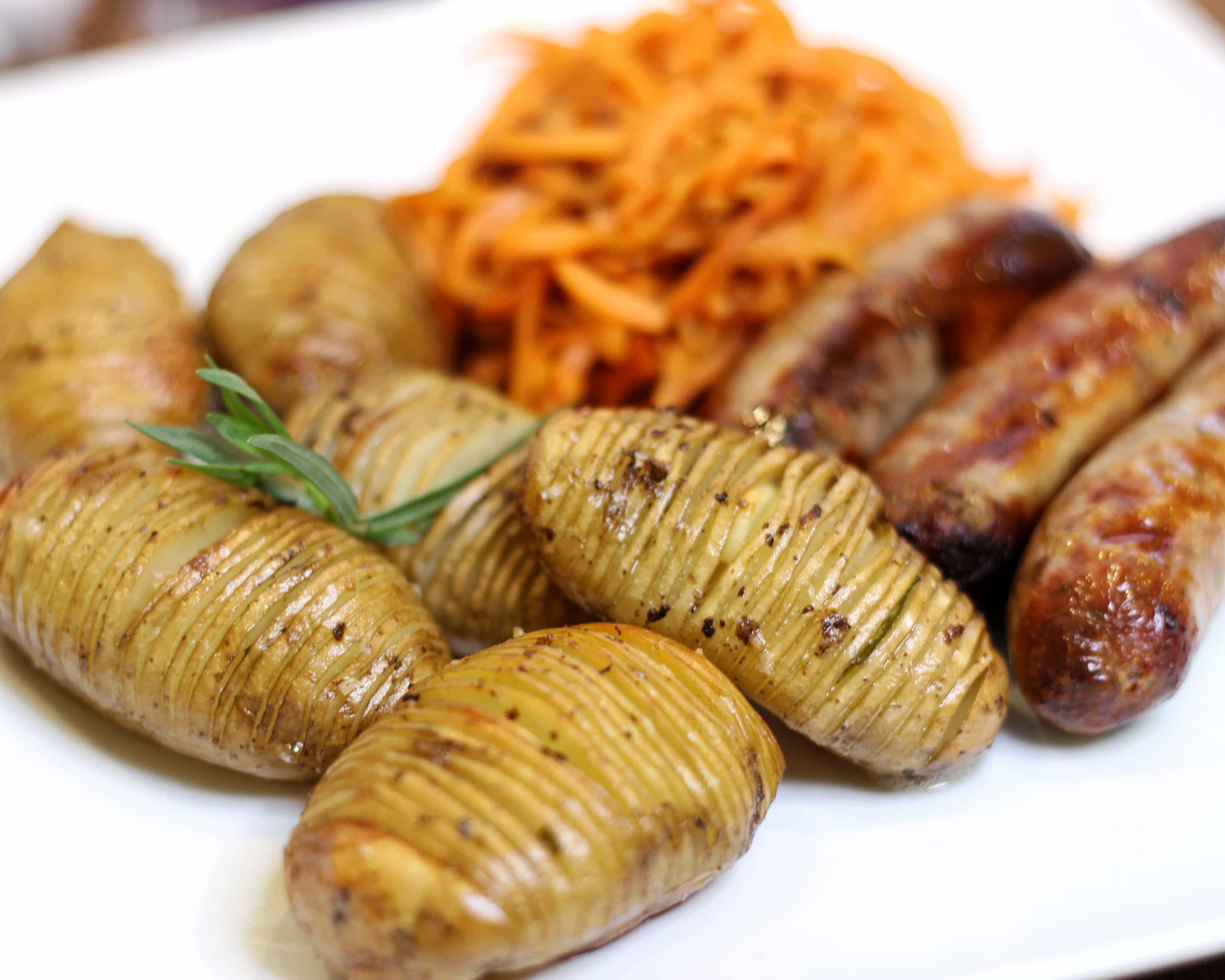 Hasselbacks with Jersey Royal New Potatoes
