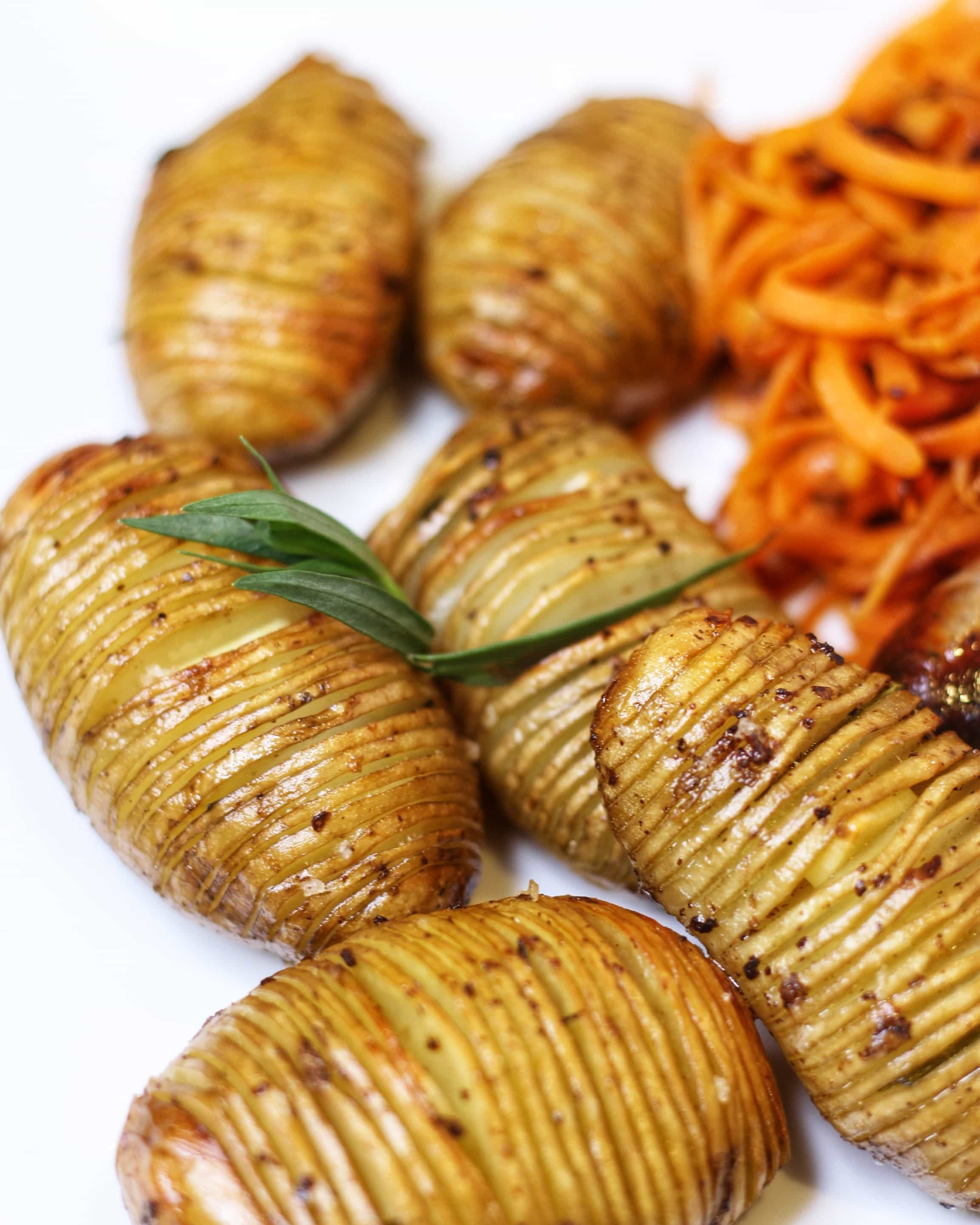 Garlic and Tarragon Hasselback Potato Recipe