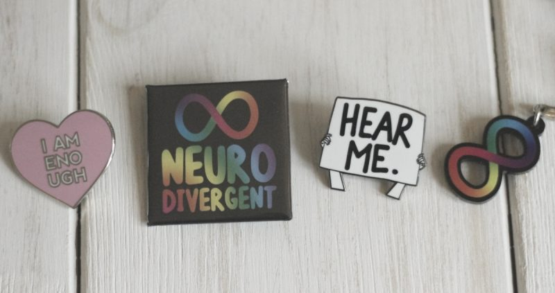 Neurodiversity pins