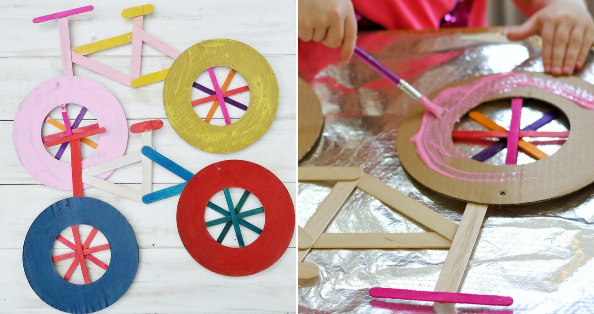 Easy Bicycle Craft for Kids