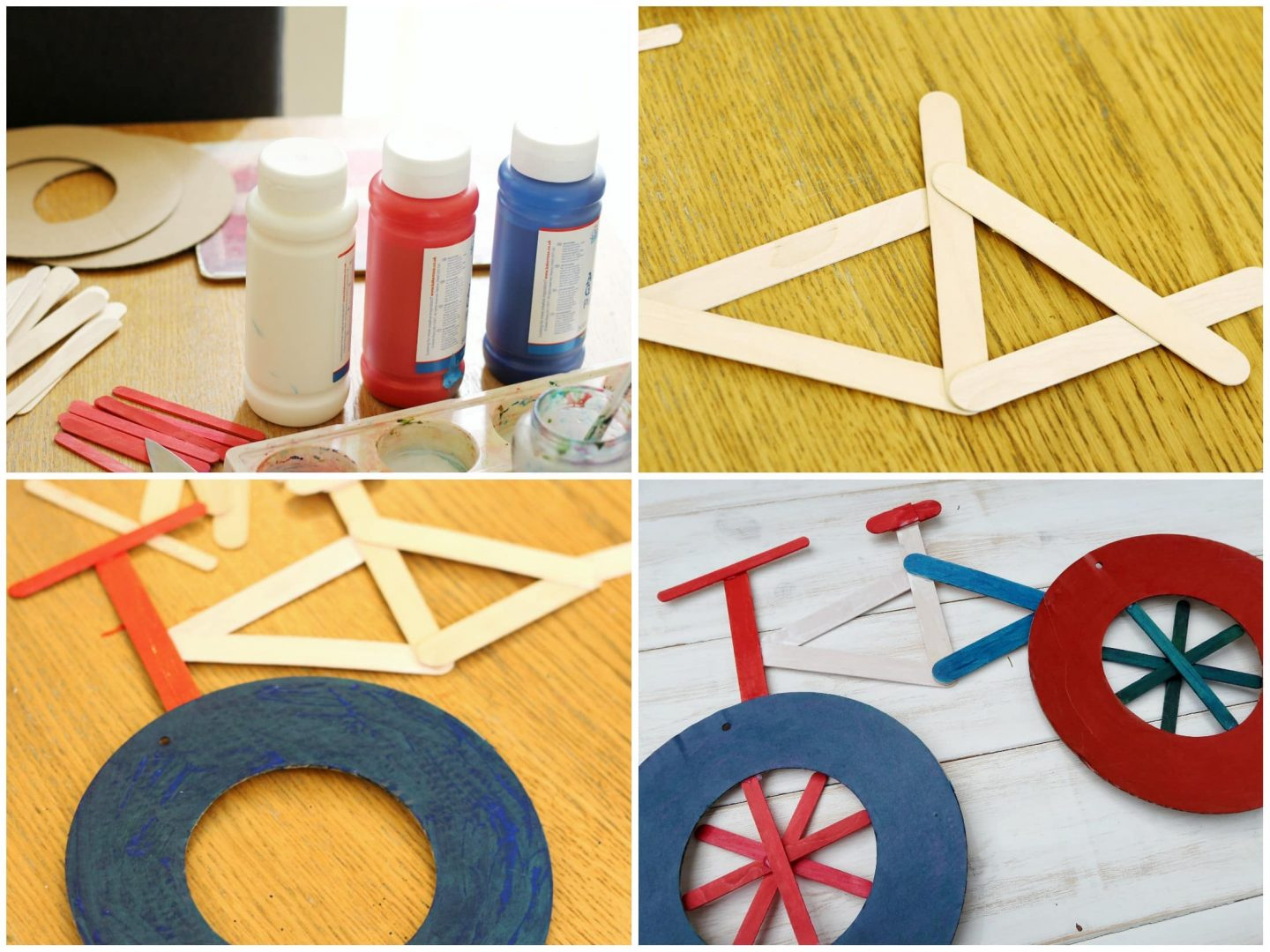 Easy Bicycle Craft For Kids With Just 4 Items Someone S Mum