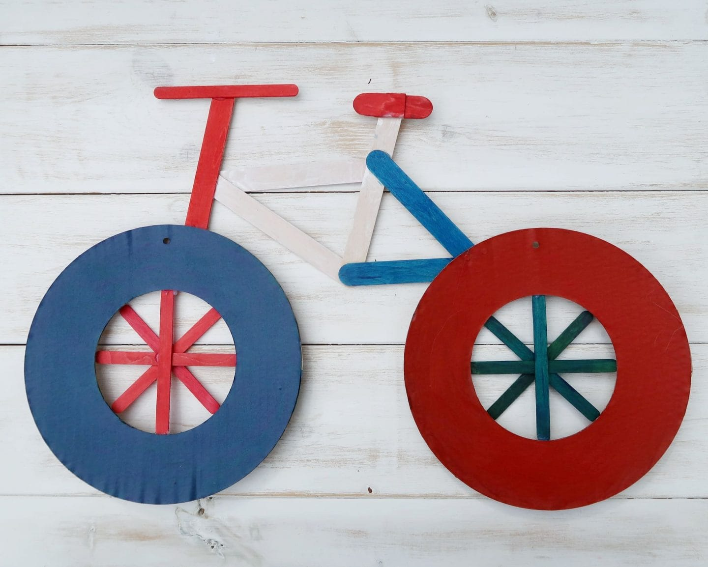 French colours card bike