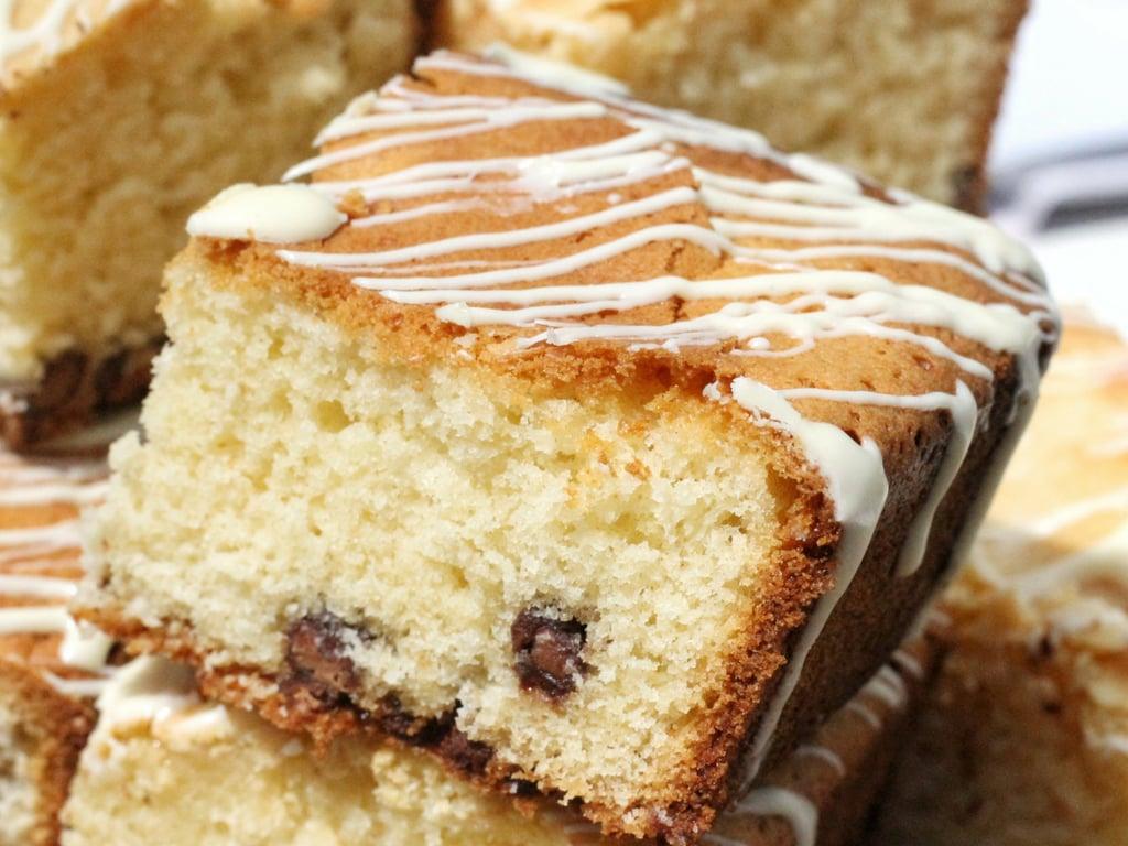 Double Chocolate Blondie Recipe - close up of blondie