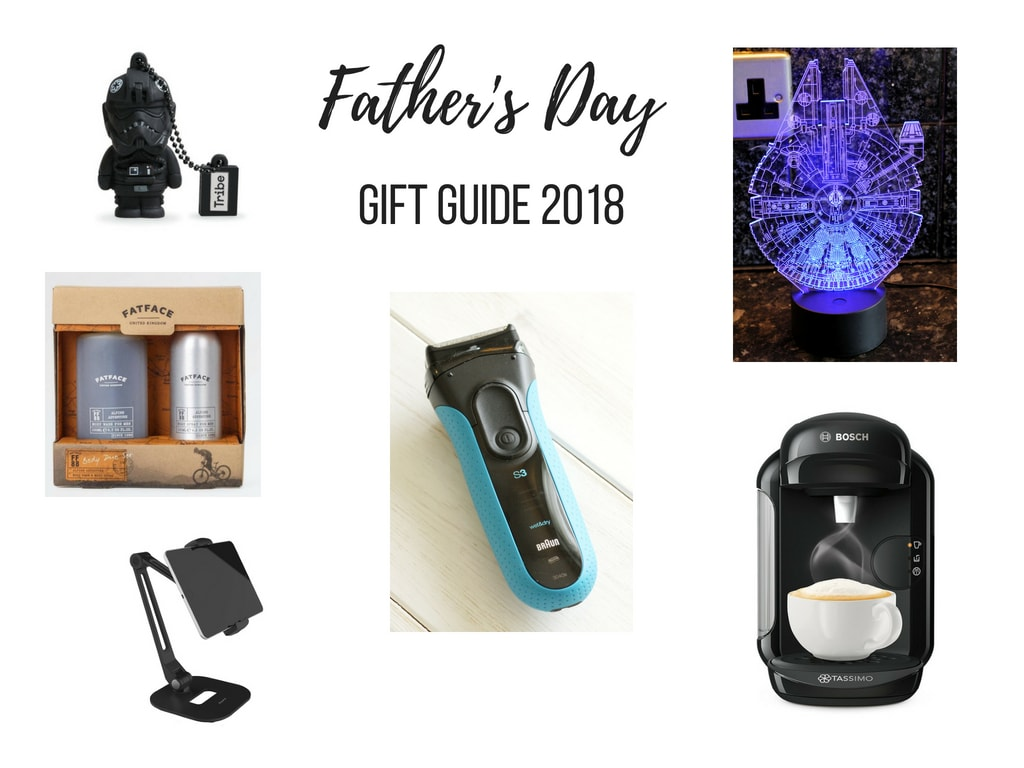 Father's Day Gift Guide - a collage of the items in the guide