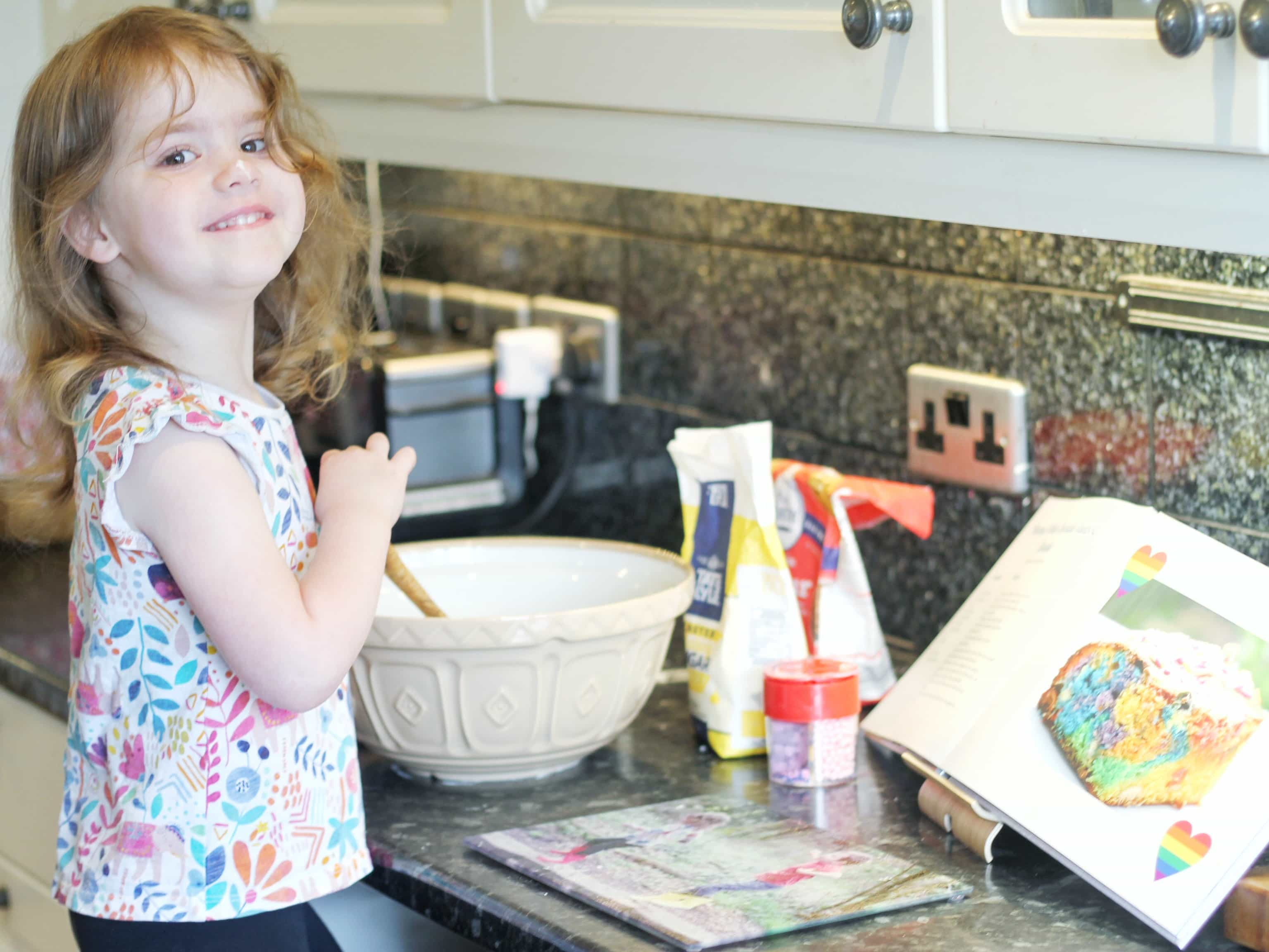 Littlest baking with our Snapfish Cookbook