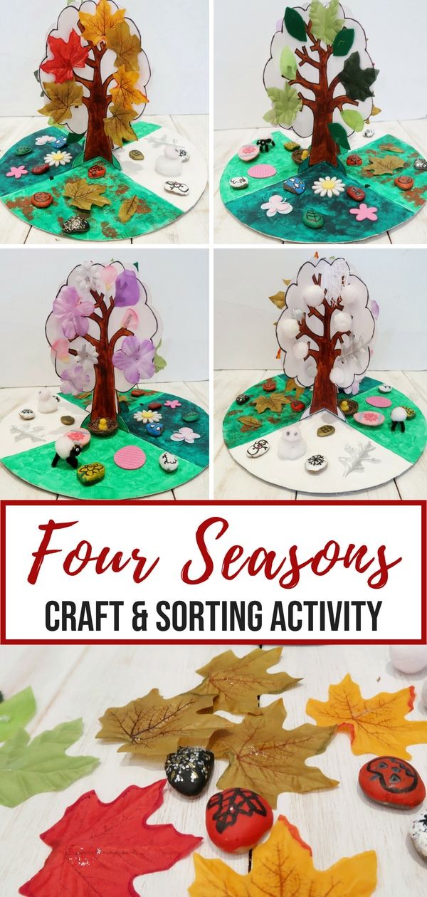 Four Seasons Craft and Sorting Activity
