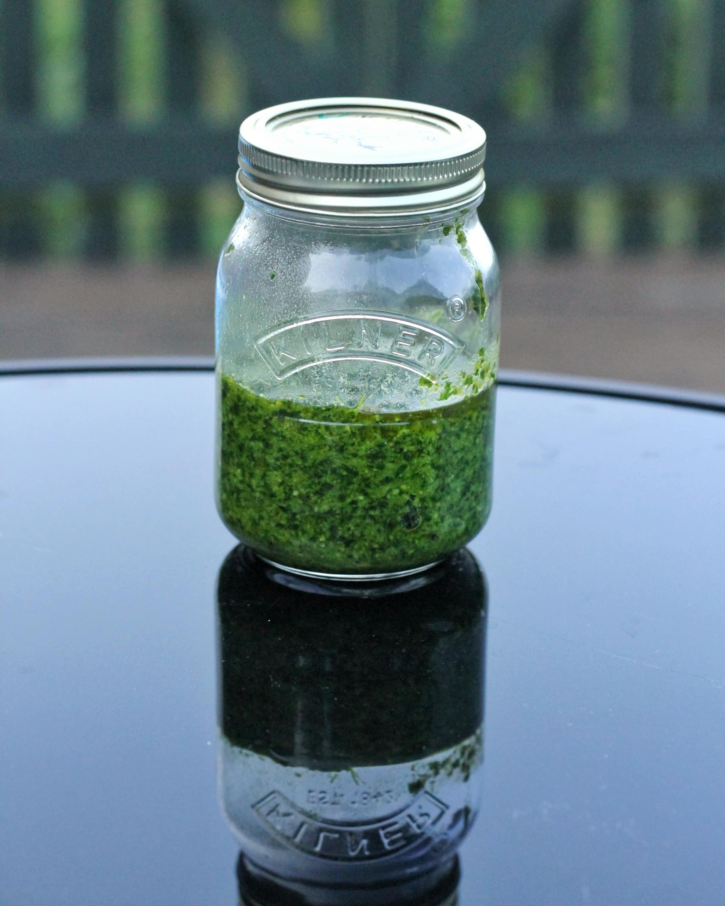 Pesto dressing for British Gems