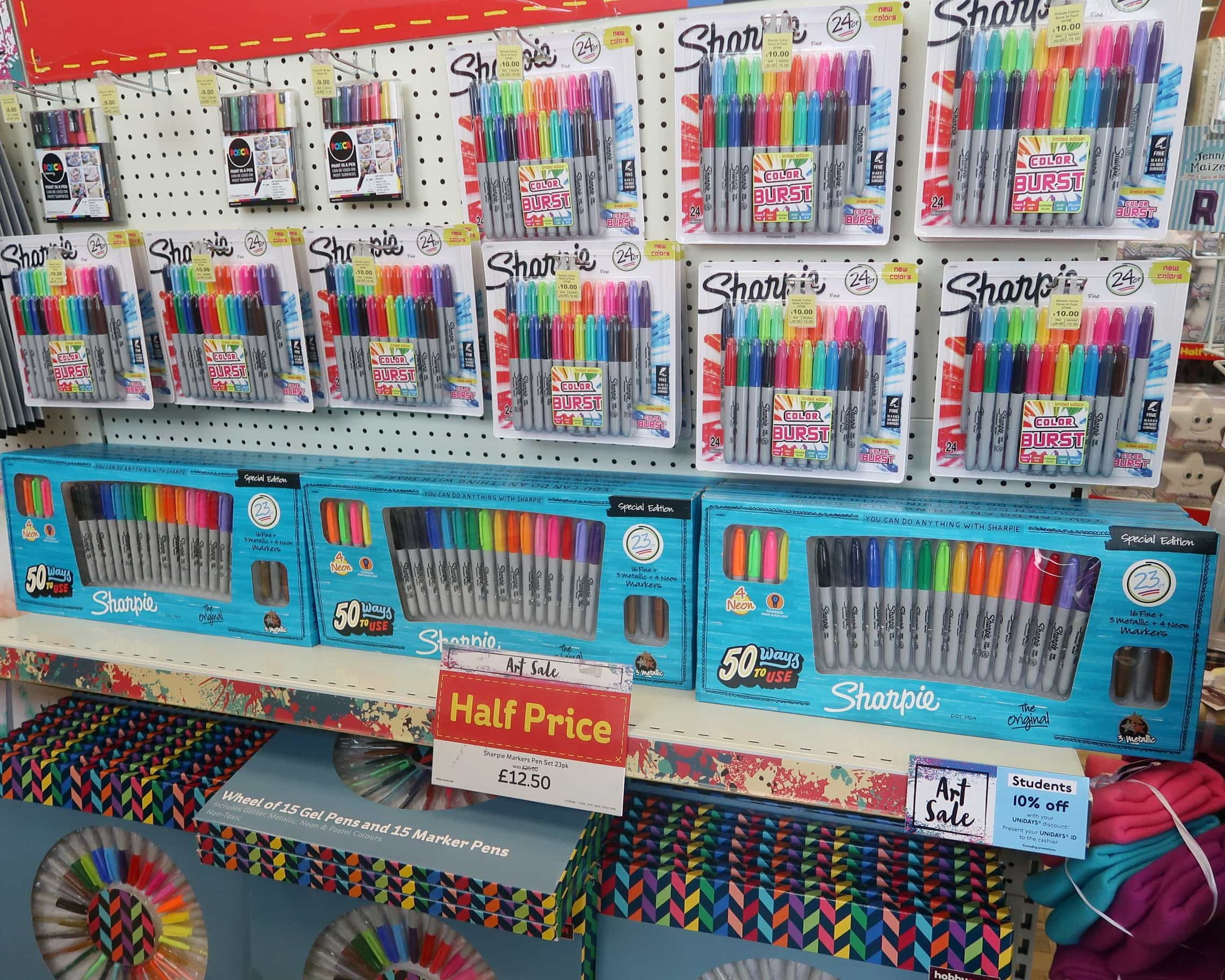 Sharpies in Hobbycraft
