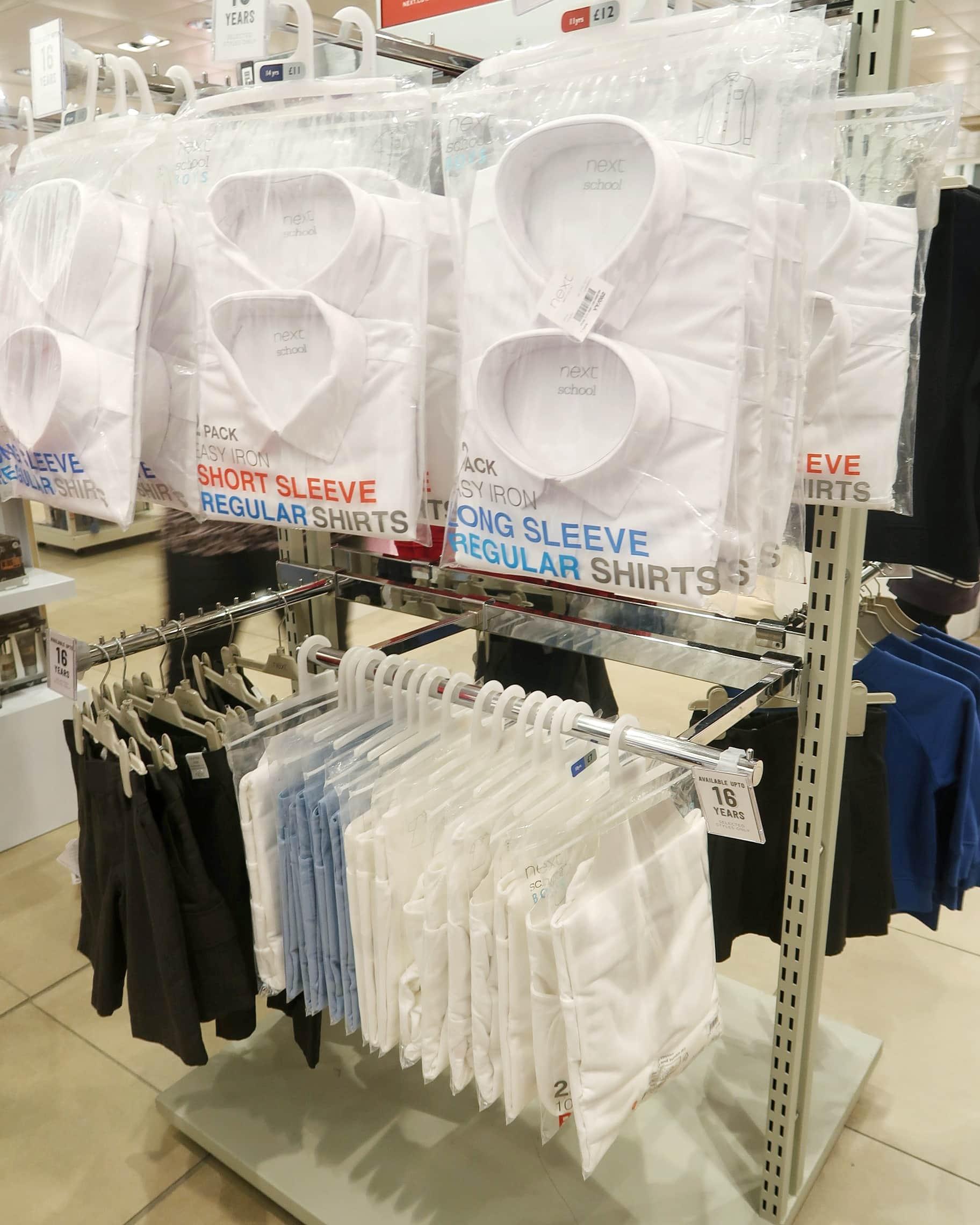 Next school uniform at Gallagher Retail Park