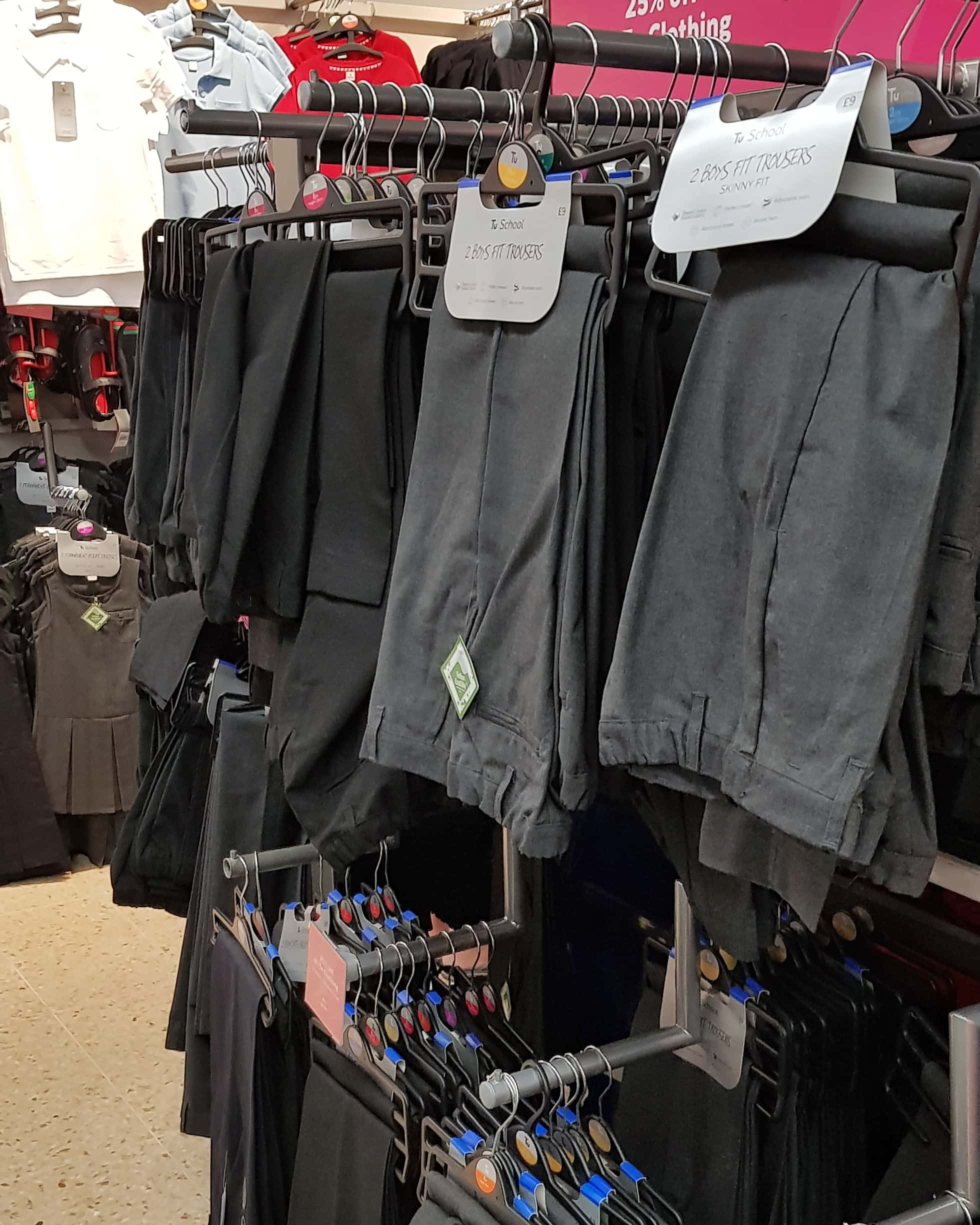 Sainsbury's uniform selection in the Gallagher Retail Park