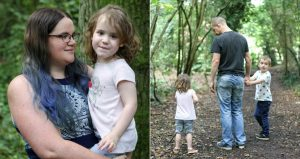 Aviva Parent cover - me with littlest and whole family in the woods