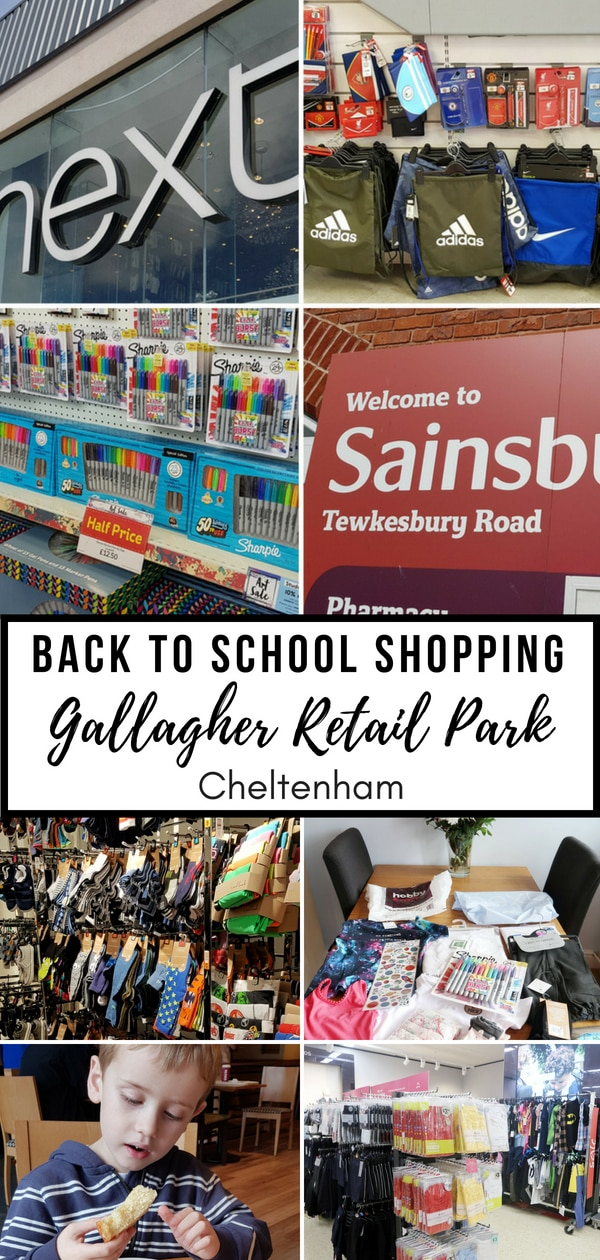 Back to School Shopping at Gallagher Retail Park Cheltenham