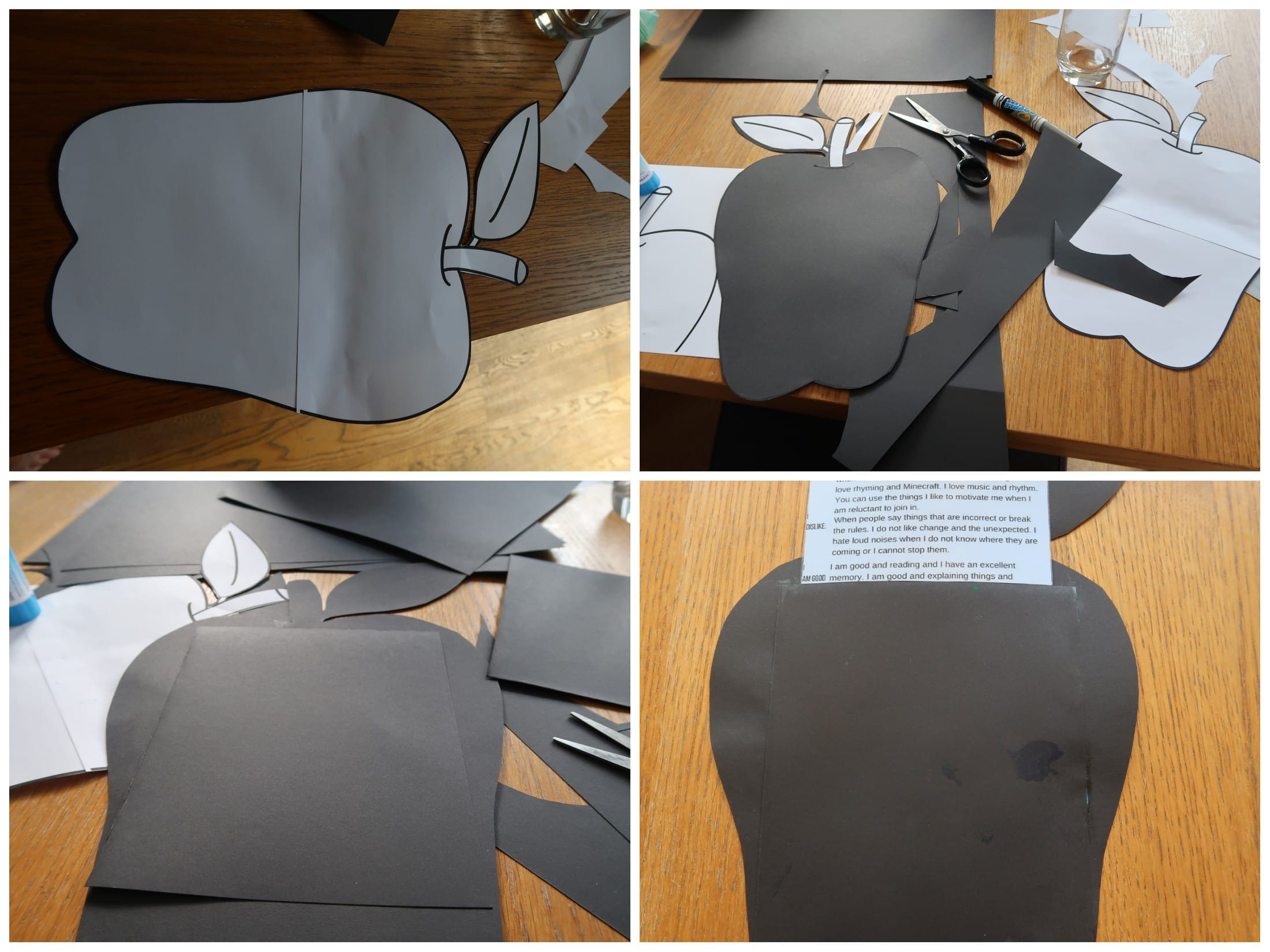 Back to school craft - how to create the apple template.