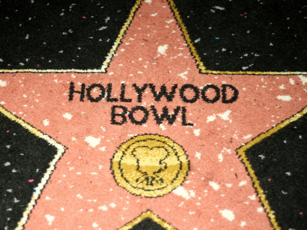 Hollywood Bowl Star on the carpet