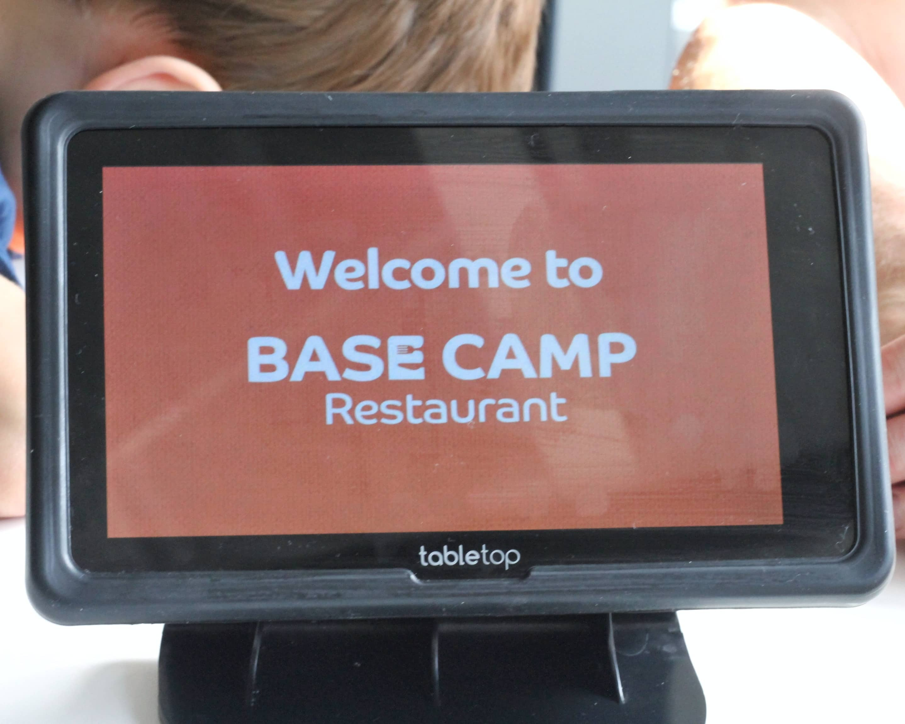Tablet ordering sysytem at Base Camp restaurant, Whipsnade Zoo